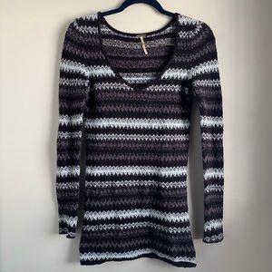 Free People Long Sleeve Mini Sweater Dress